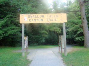 Swallow canyon Falls Trail Entrance