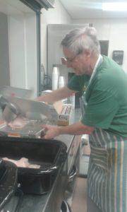 Preparing pork and sauerkraut